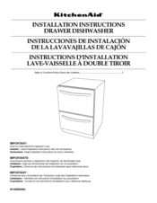 kitchen aid kdte234gps installation instructions