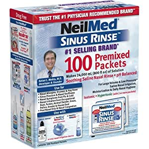 neilmed sinus rinse packets instructions