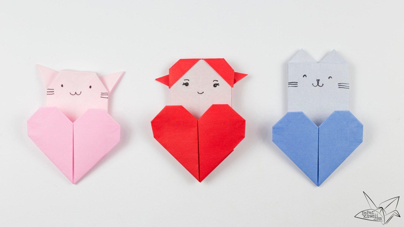 origami heart pocket instructions