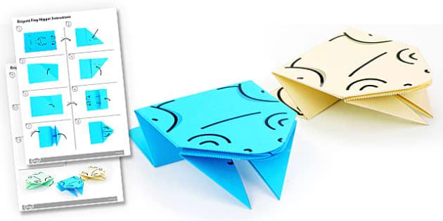 origami instructions frog base