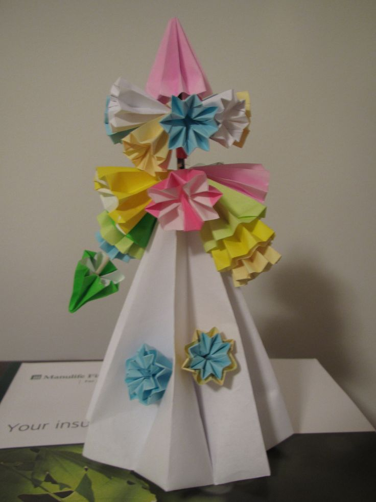 origami kimono bookmark instructions