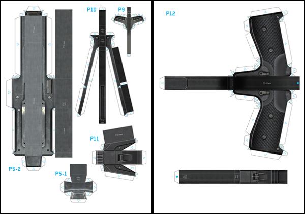 origami machine gun instructions