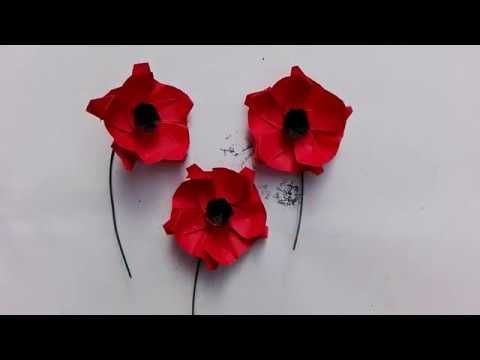 origami poppy instructions easy