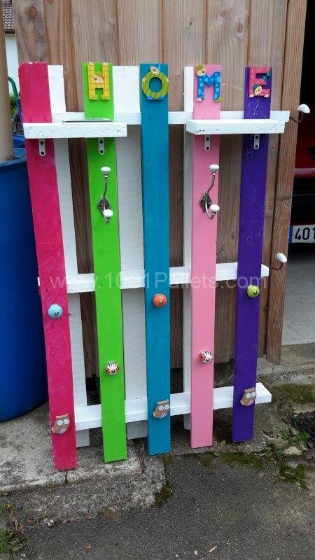 pallet coat rack instructions