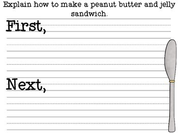 peanut butter and jelly instructions lesson