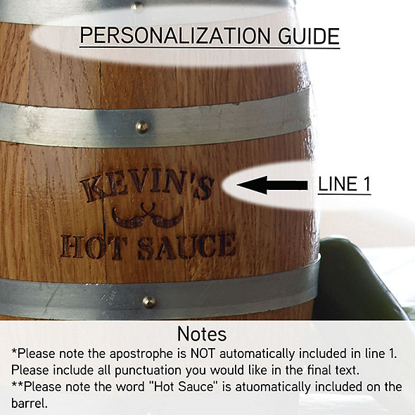 personalized whiskey barrel instructions