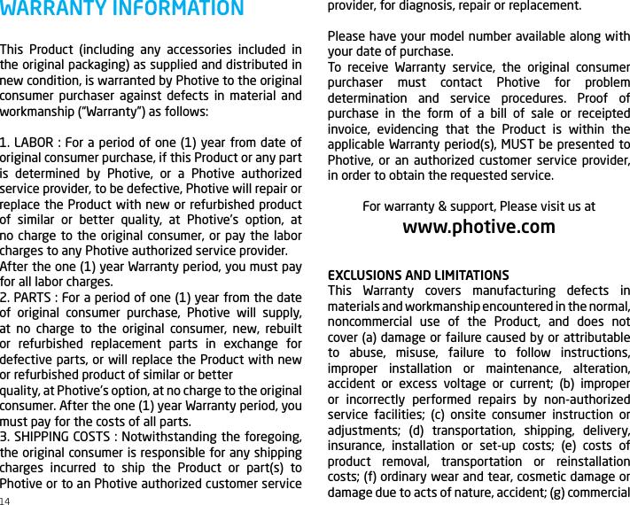 photive ph bte70 pairing instructions