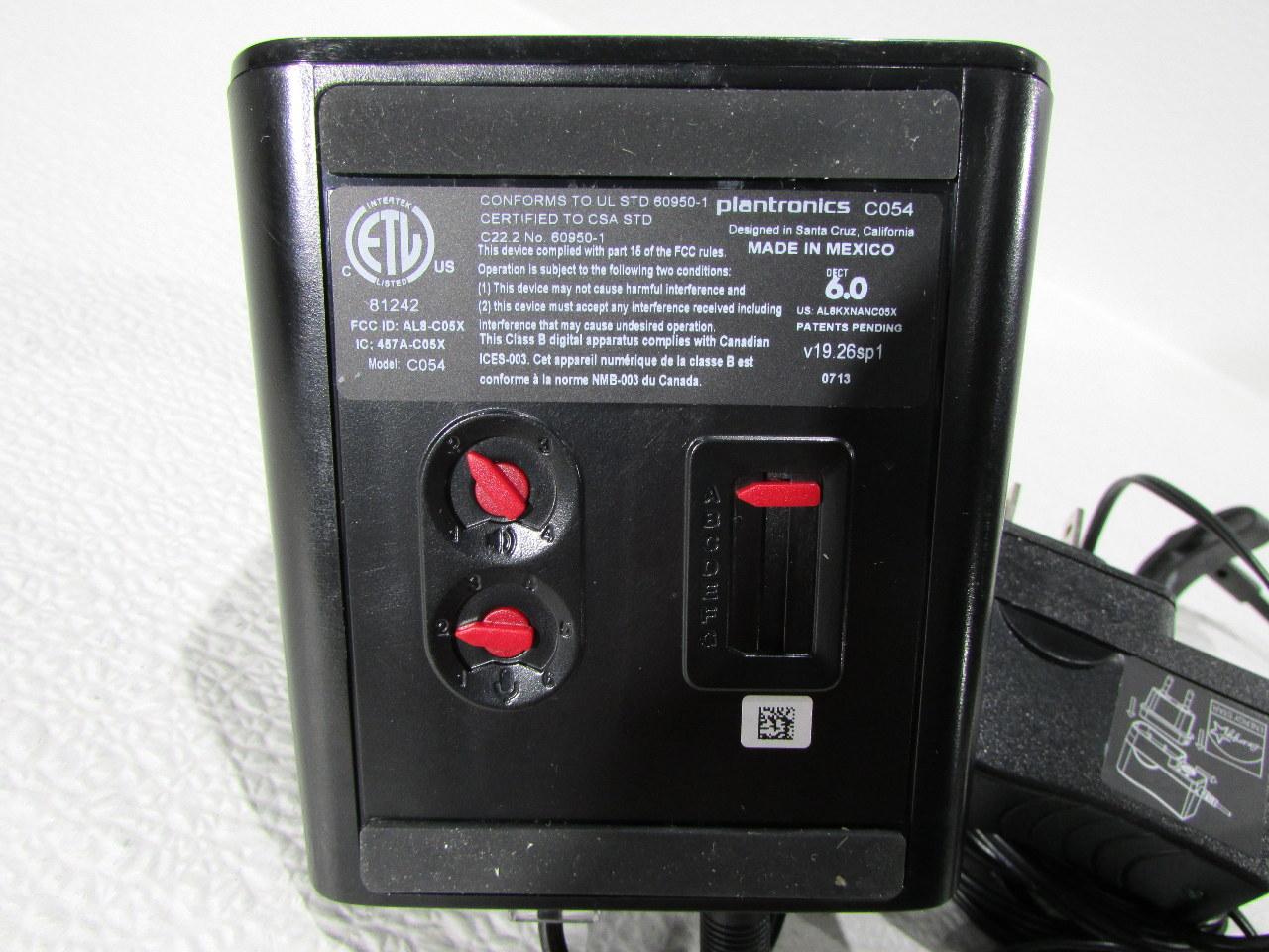 plantronics c054 headset instructions