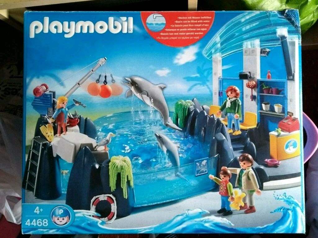 playmobil dolphin pool 4468 instructions
