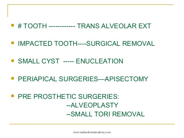 preoperative instructions oral surgery