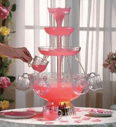 pretty pink chocolate fountain instructions