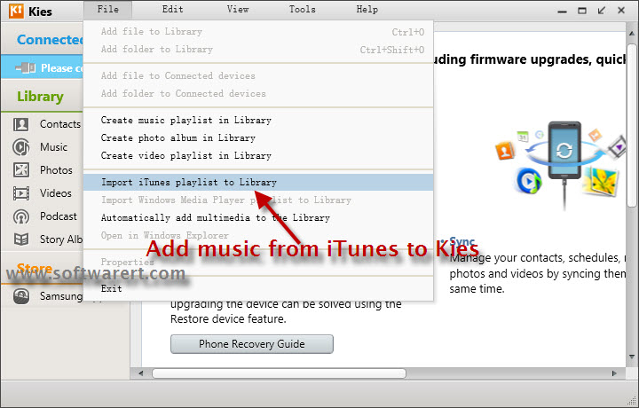 samsung kies for mac instructions