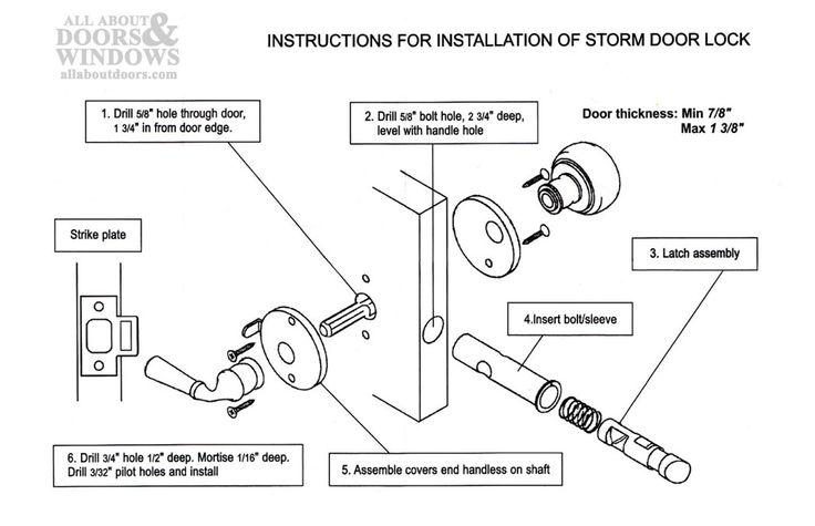 schlage deadbolt assembly instructions