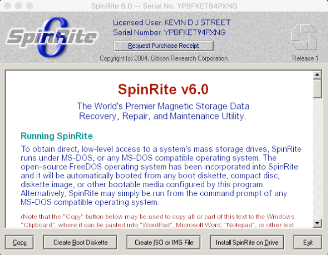 spinrite 6.0 instructions
