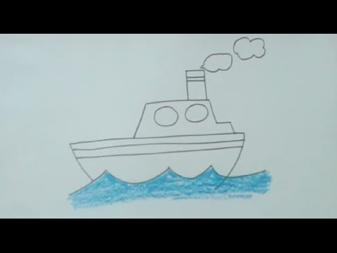 step by step instructions on how to draw a boat