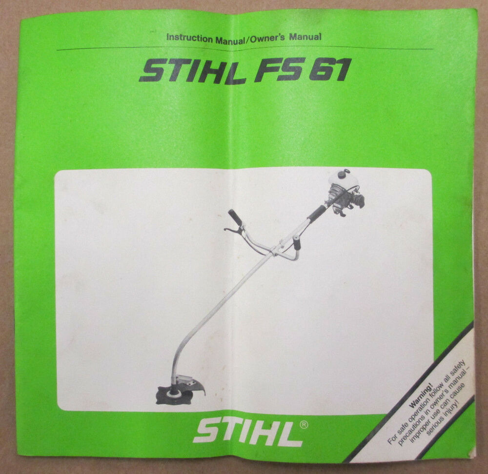 stihl fs 108 instructions