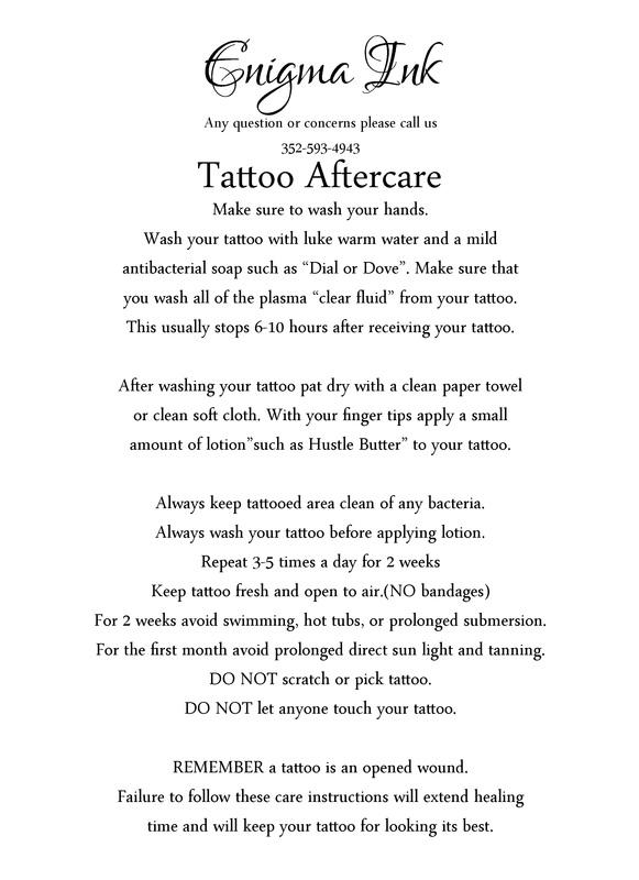 tattoo care instructions uk