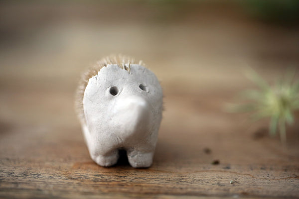 teasel hedgehog craft instructions
