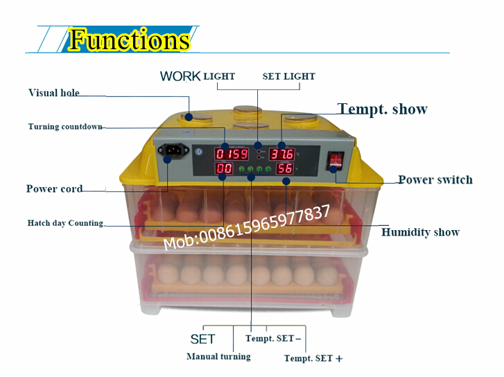 techtongda 110v egg incubator instructions
