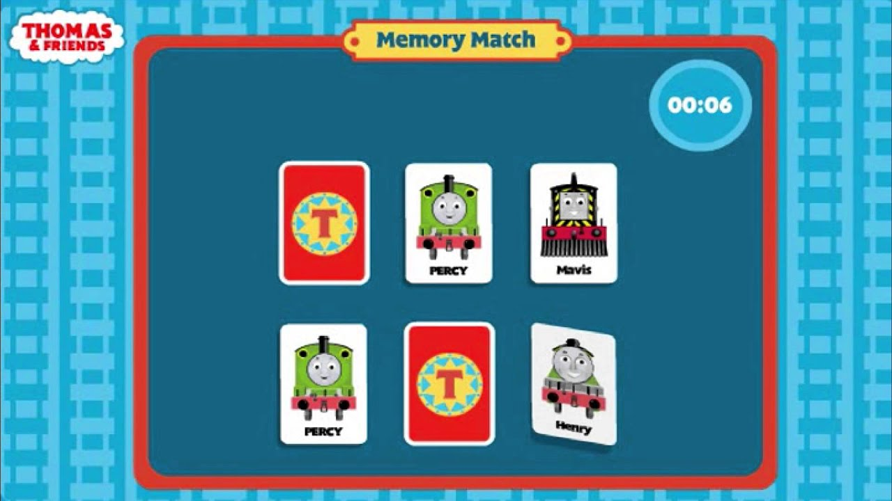 thomas and friends memory match game instructions