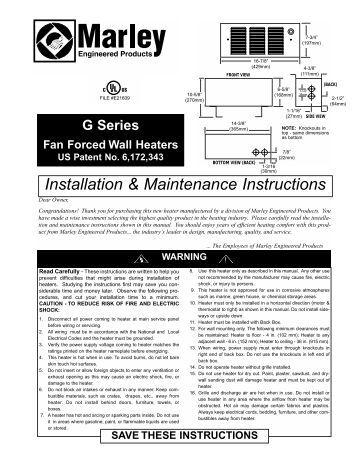 uberhaus fan forced heater instructions