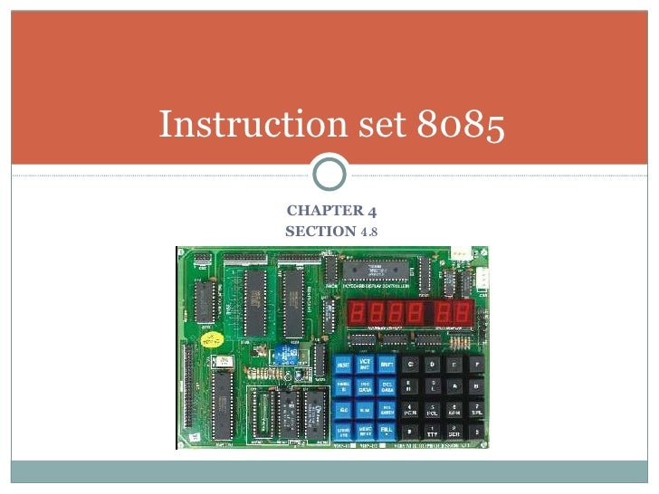 what is one byte instruction in 8085